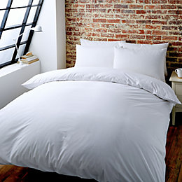 Colours Zen Plain White King Size Bed Set