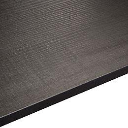 Exilis Wood effect Brasero black Vanity worktop, (W)425mm