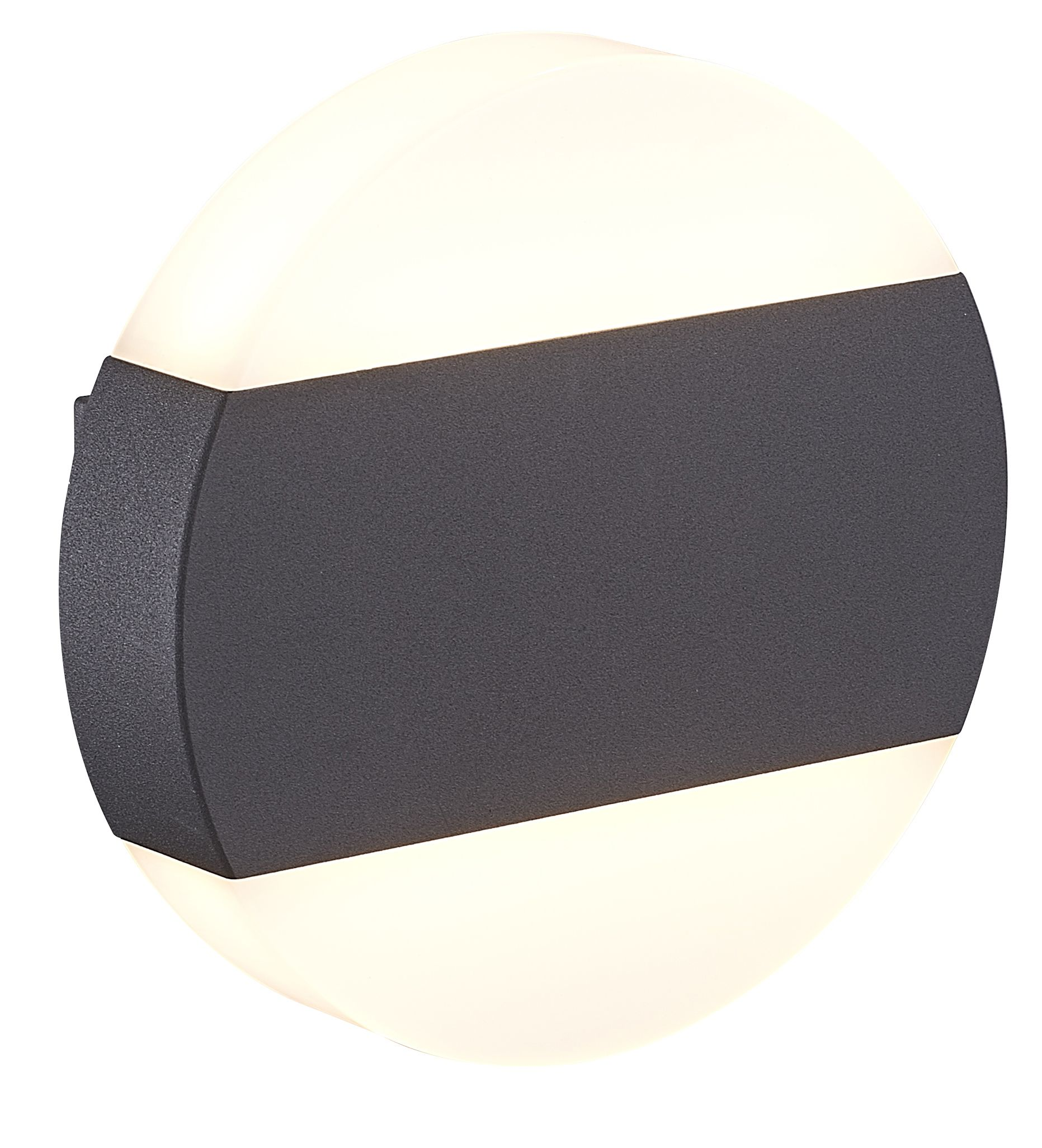 Blooma Graeae Black Mains Powered External Wall Light