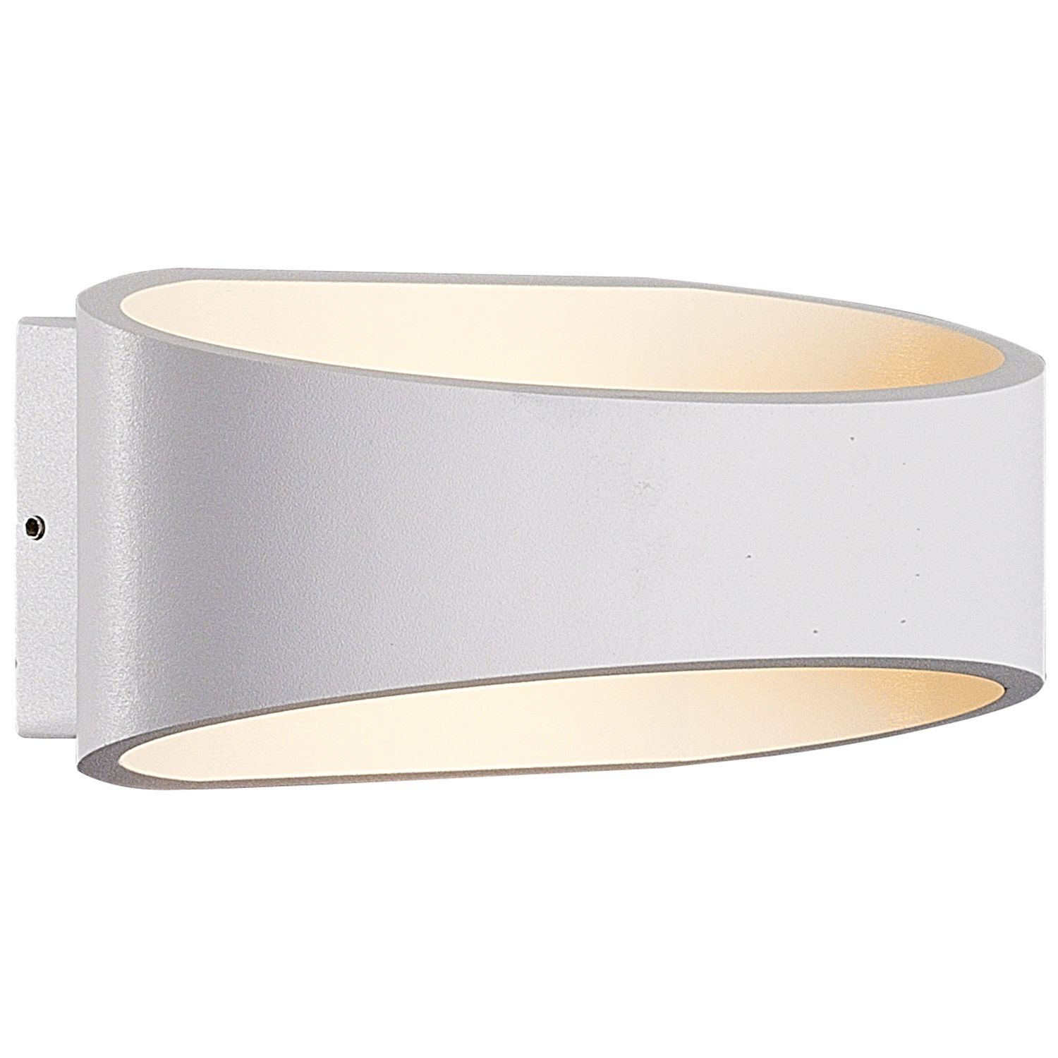 Blooma asterion white mains powered external wall light for Housse blooma