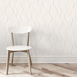 Beige & Grey Birkdale Glitter Effect Wallpaper