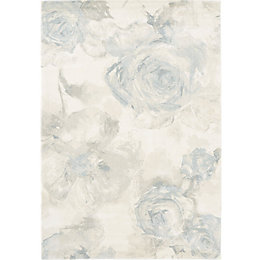 Colours Florelle Cream & Teal Floral Rug (L)2.3M