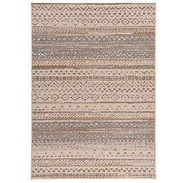 Colours Orla Blue & Beige Striped Rug (L)1.7M