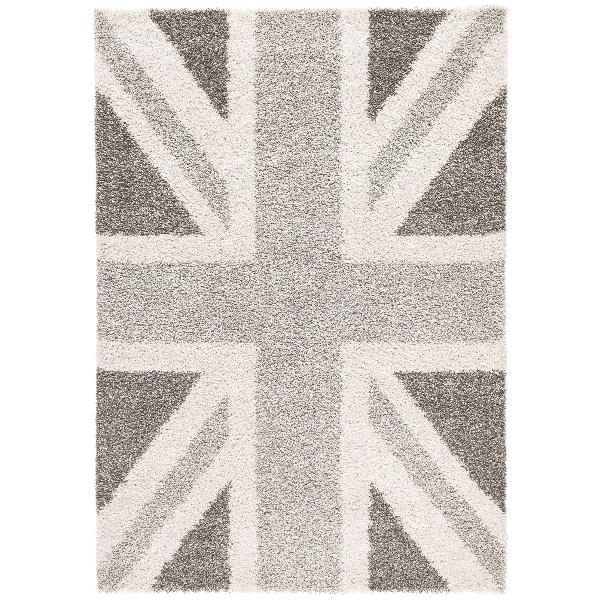 Colours Raegan Grey Union Jack Rug L 1 7m W 2 M Departments Diy At B Q