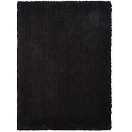 Colours Oriana Black Plain Rug (L)2.3M (W)1.6 M