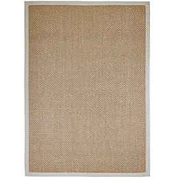 Colours Fabrianna Natural Border Rug (L)2.3M (W)1.6 M