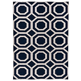 Colours Athena Silver & Blue Geometric Rug (L)1.7M