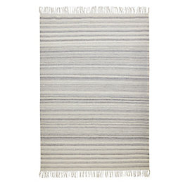 Colours Jayde Grey Striped Rug (L)2.3M (W)1.6 M