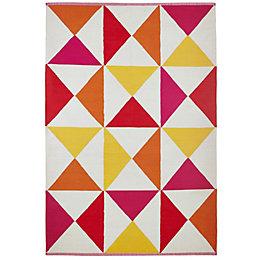 Colours Meghan Red Geometric Rug (L)2.3M (W)1.6 M