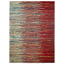 Colours Yazmine Red Striped Rug (L)2.3M (W)1.6 M
