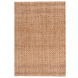 Colours Odette Natural Plain Rug (L)1.7m (W)1.2 m