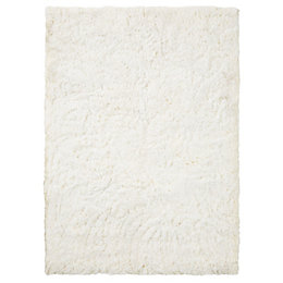 Colours Gemima Cream Plain Rug (L)2.3M (W)1.6 M