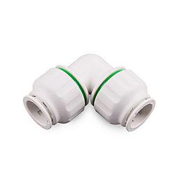Plumbsure Push Fit Elbow (Dia)15mm, Pack of 5