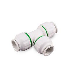 Plumbsure Push Fit Tee (Dia)15mm, Pack of 5