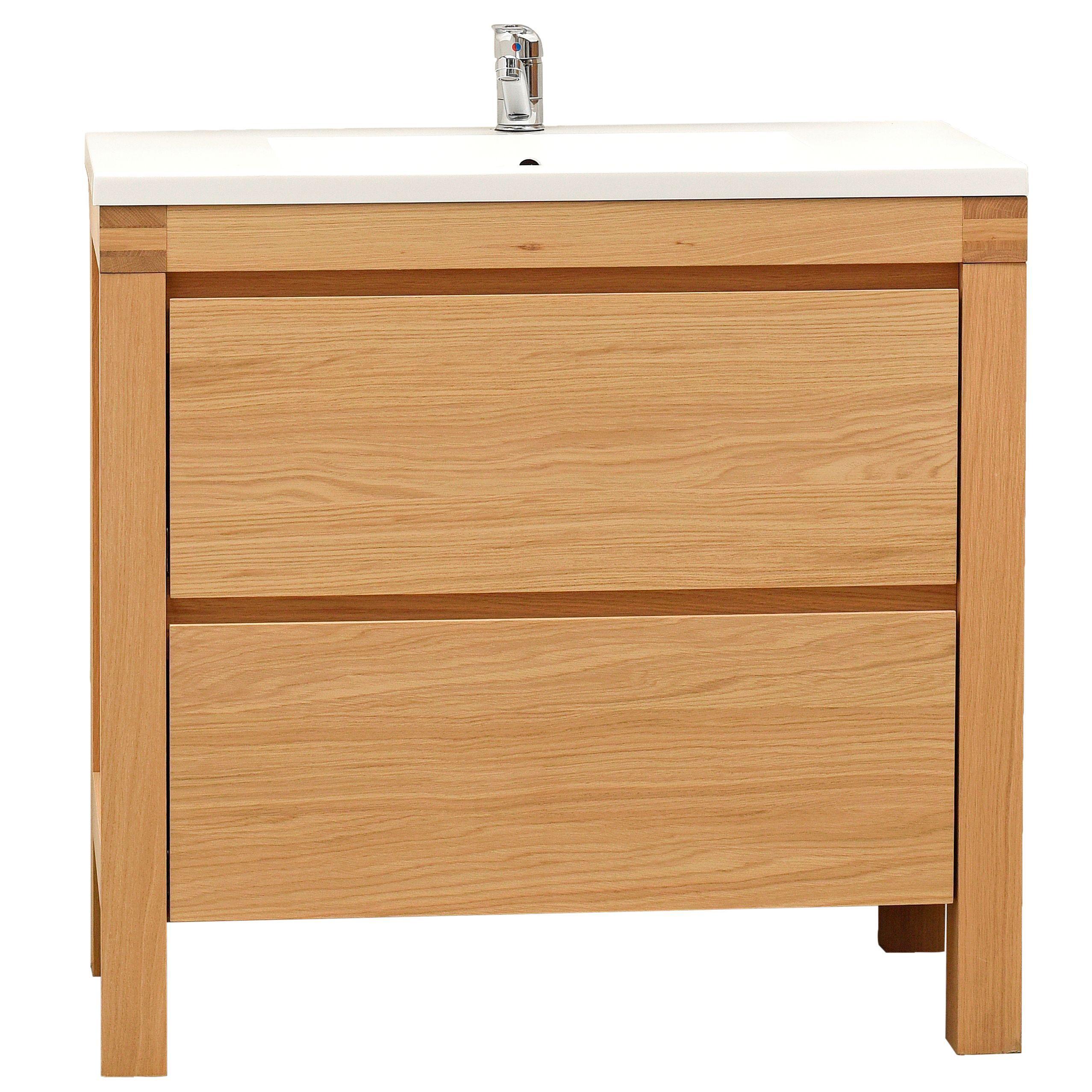 Bathroom Vanity Units B Q: Cooke & Lewis Erwan Natural Oak Vanity Unit & Basin Set
