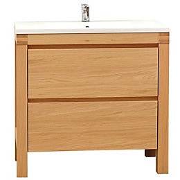 Cooke & Lewis Erwan Natural oak Vanity unit