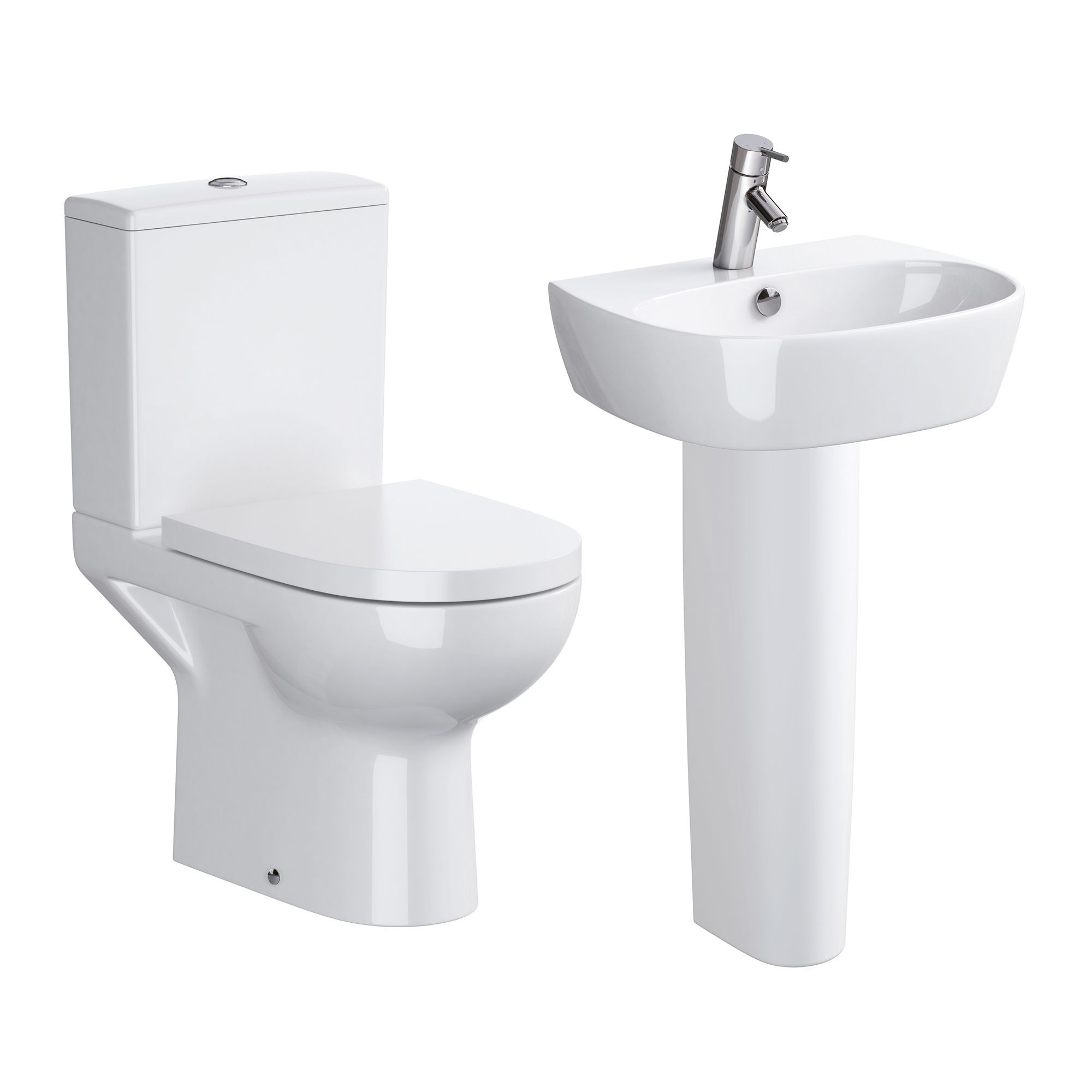 Cooke & Lewis San Remo Close-Coupled Toilet & Full Pedestal Basin ...