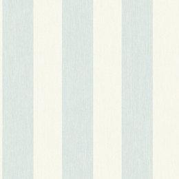 Colours Boutique Duck egg Striped Mica Wallpaper