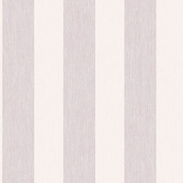 Colours Boutique Pink Striped Mica Wallpaper