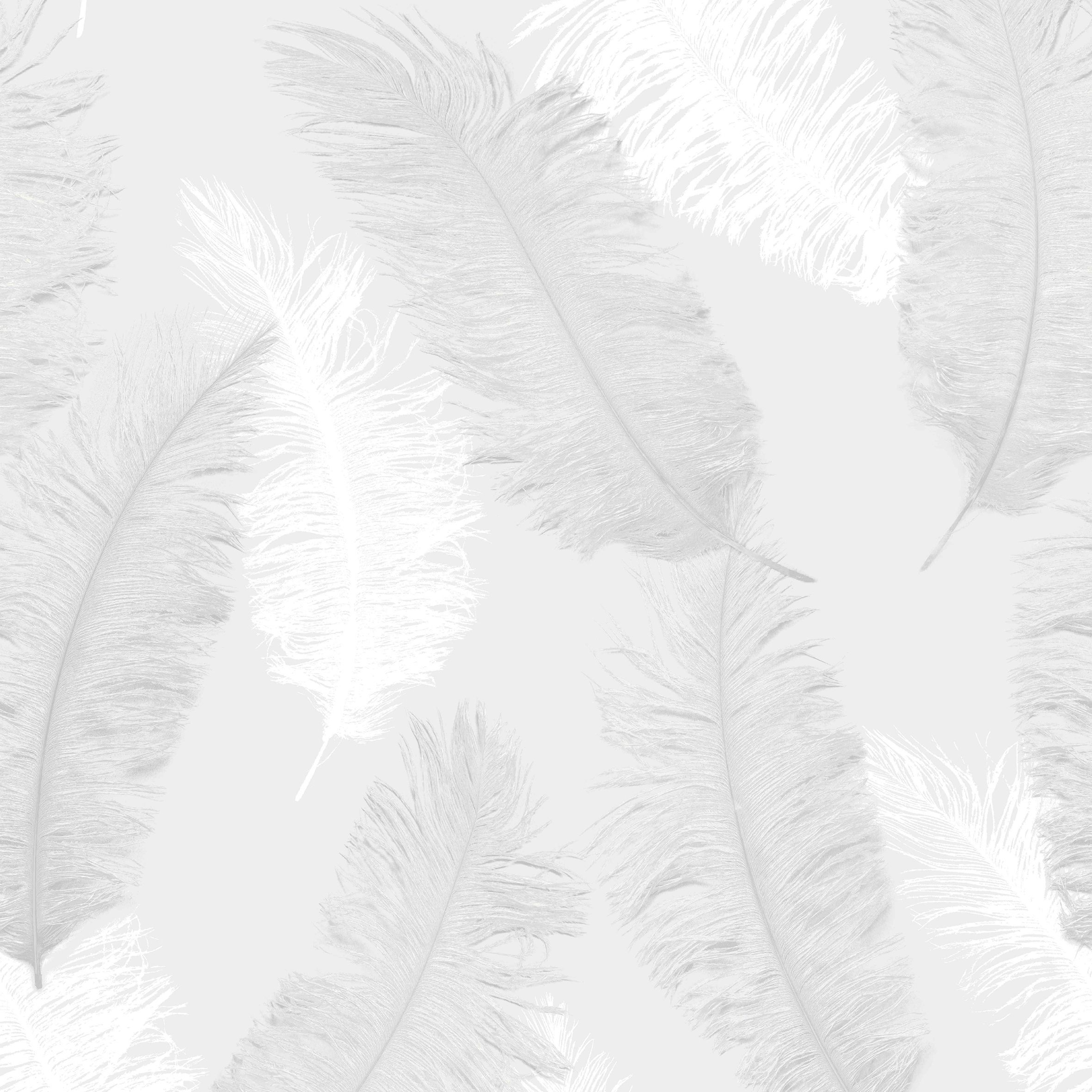 colours umali grey feather textured wallpaper. Black Bedroom Furniture Sets. Home Design Ideas