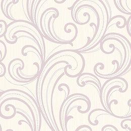 Colours Sarika Pink Scroll Textured Wallpaper