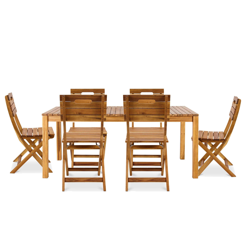 Denia Wooden 6 Seater Dining Set