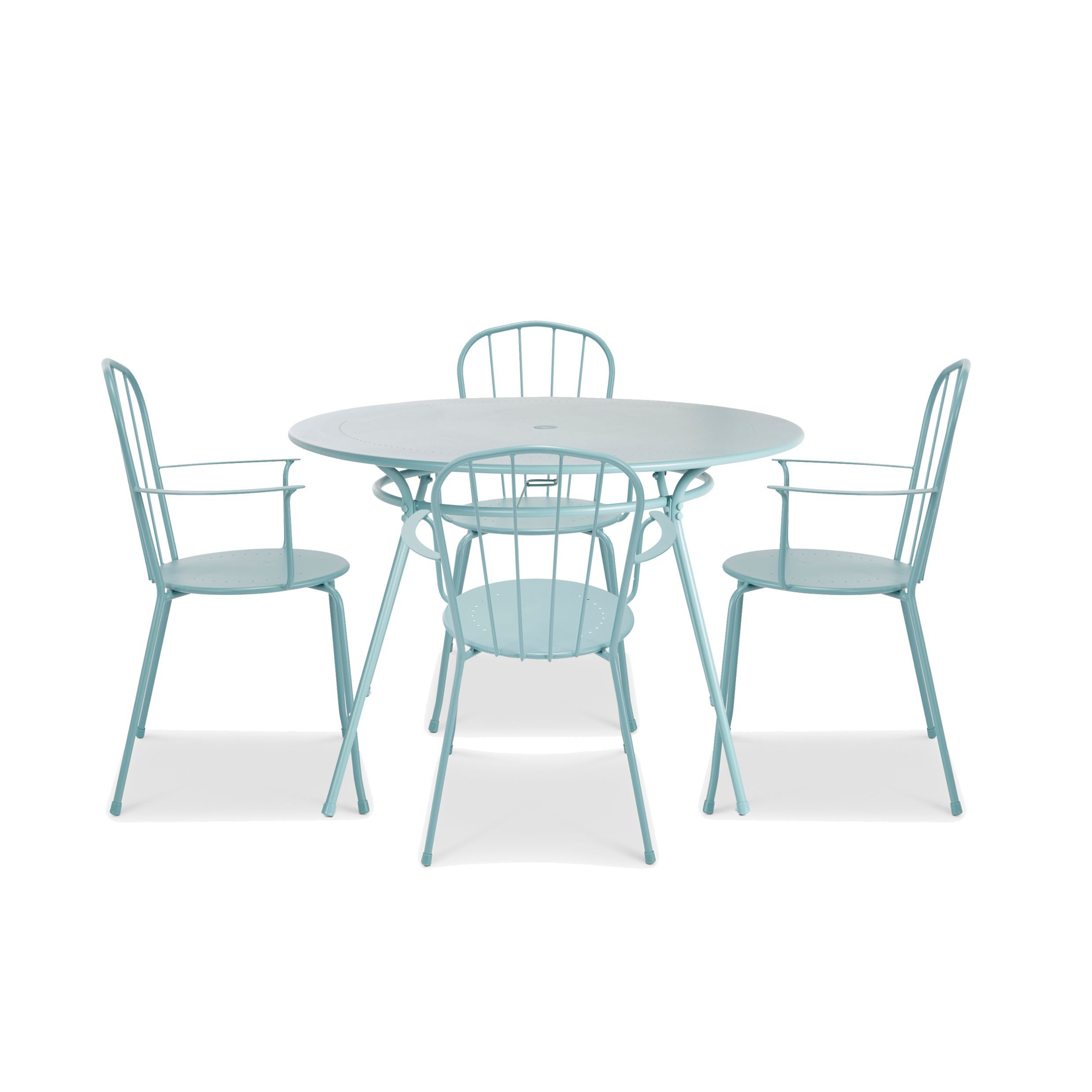 Gloria Metal 4 Seater Dining Set | Departments | DIY at B&Q