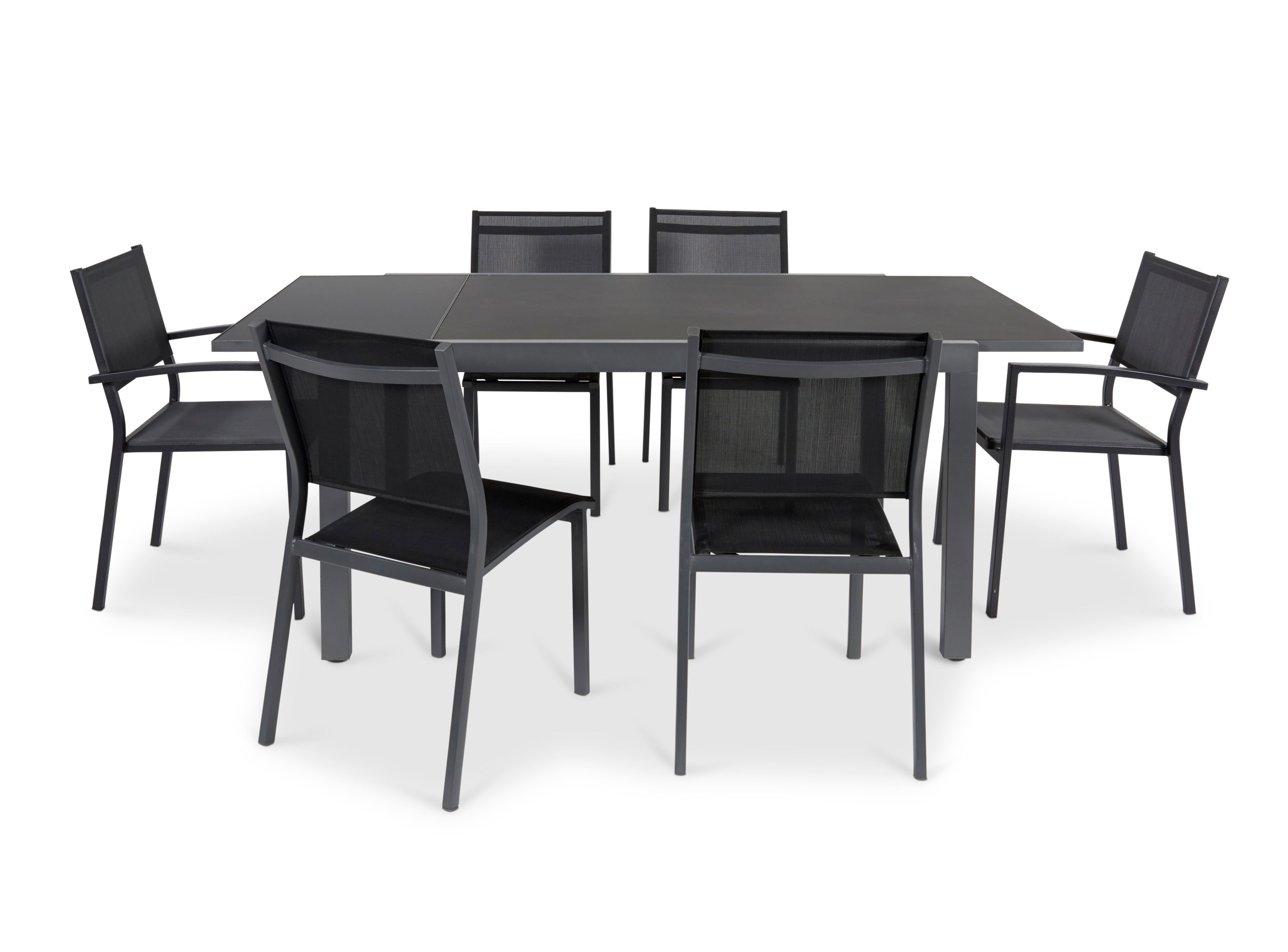 Sumatra Metal 6 Seater Armchair Dining Set Departments