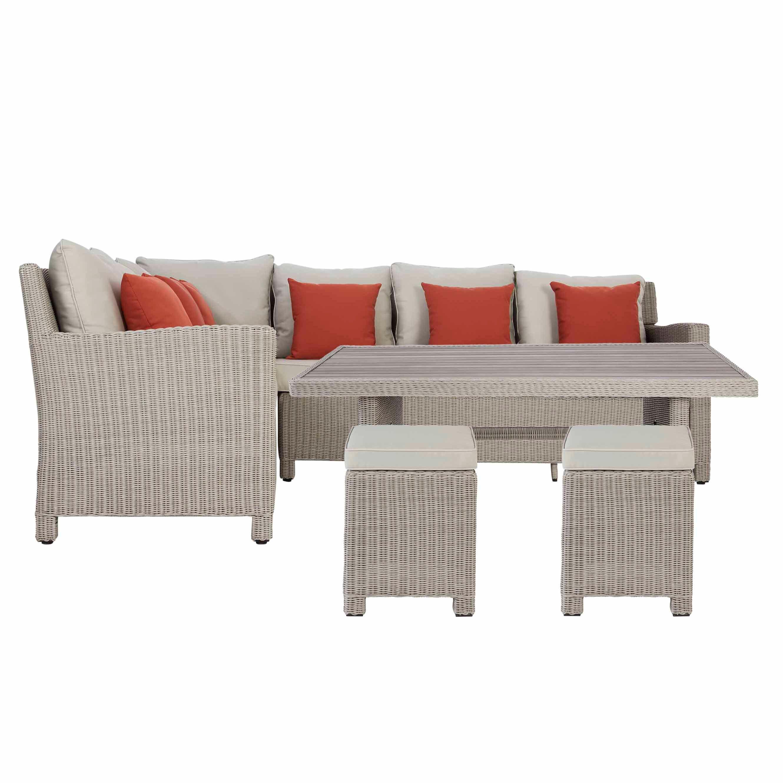 Praslin Rattan 7 Seater Dining Set Departments Diy At B Q