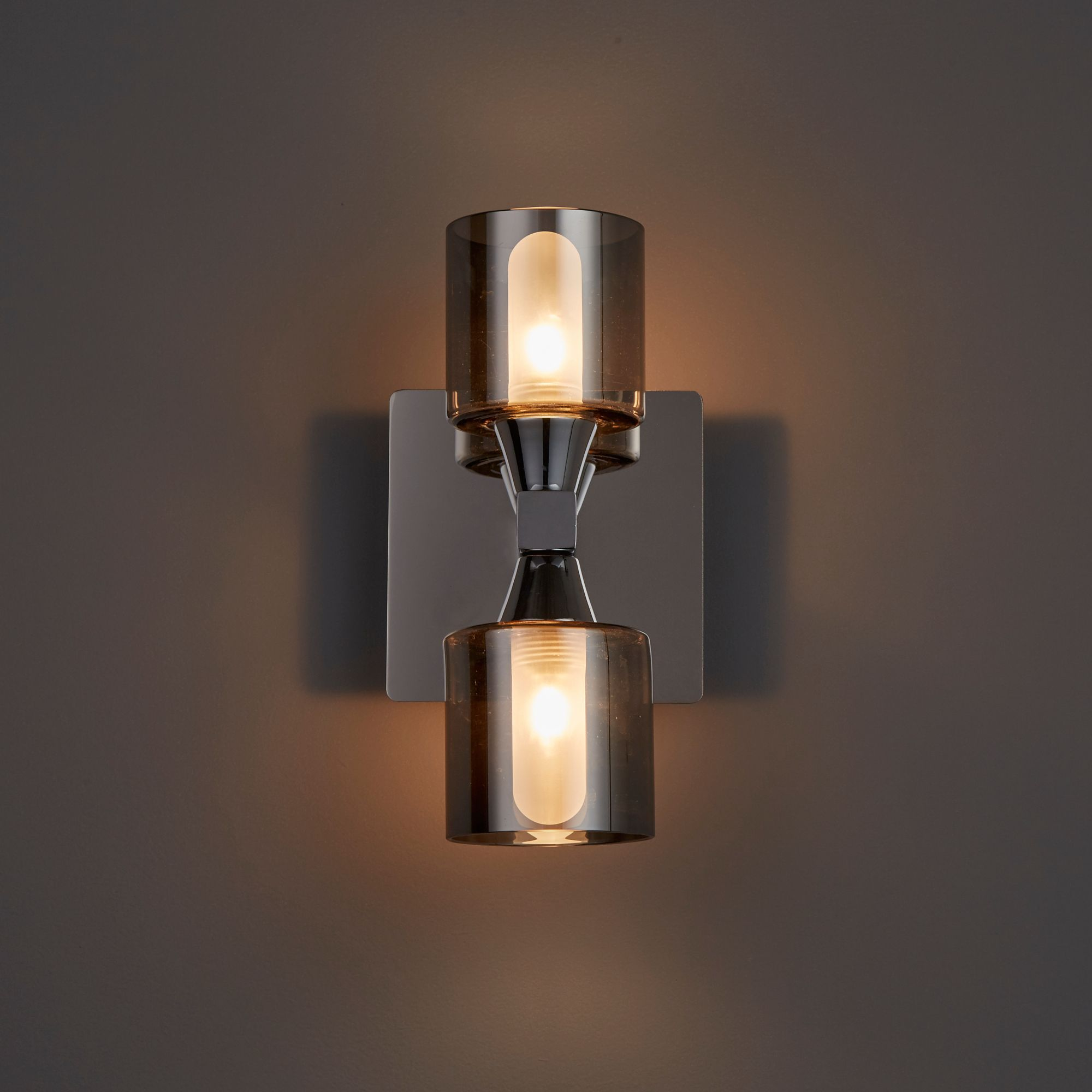 Cobark Smoked effect Bathroom Wall light | Departments ...