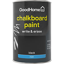 Colours Black Matt Chalkboard Paint 1L