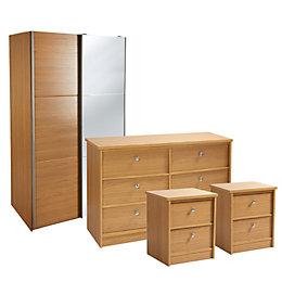 Kendal Oak Effect 4 Piece Bedroom Furniture Set
