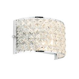 Adela Modern Chrome Effect Single Wall Light