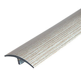 Colours Fine Grey Oak Effect Threshold Trim 90