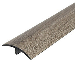 Colours Rustic Oak Effect Threshold Trim 90 cm