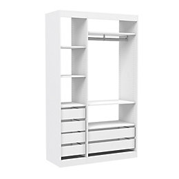 Form Perkin White Shelving & Drawer System (H)2008mm