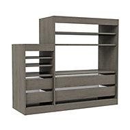 Form Perkin Grey oak effect Shelving & drawer system (H)1208mm (W)1398mm