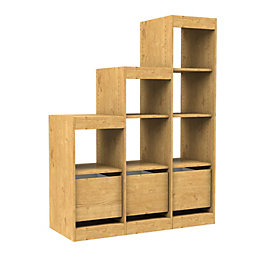 Form Perkin Natural Oak Effect Shelving & Drawer