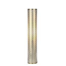 Fret Modern Satin Brass Effect Floor Light