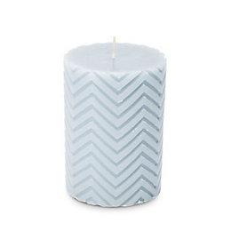 Chevron Unscented Pillar Candle