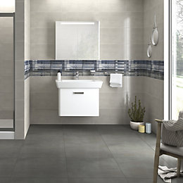 Concrete Grey High Gloss Porcelain Wall & Floor