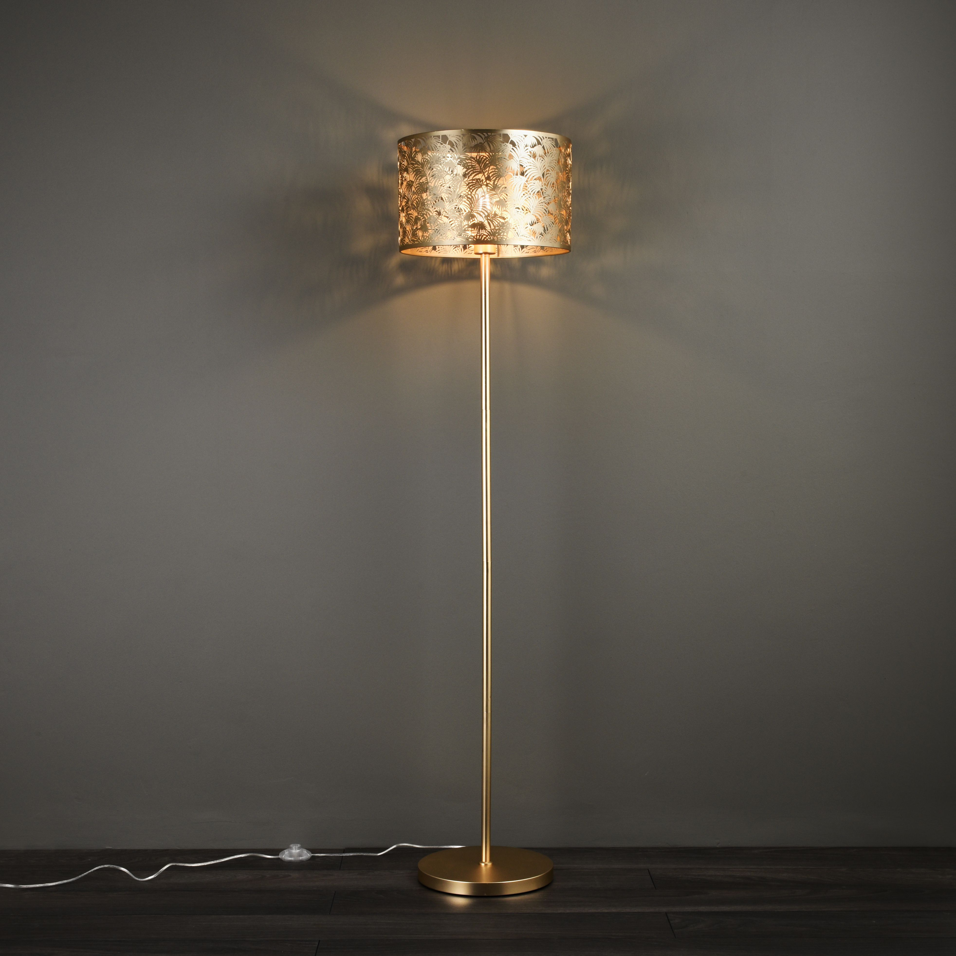 Karmina Gold plated effect Floor light