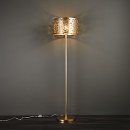 Karmina Gold Plated Effect Floor Light