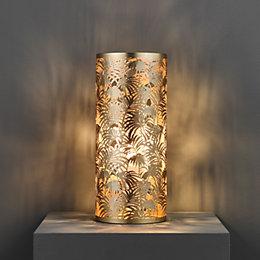 Karmina Modern Rose Gold Effect Table Lamp