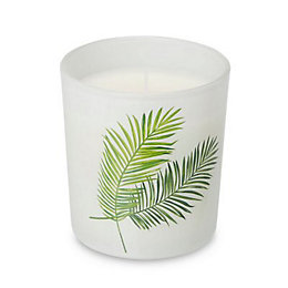 Palm Leaf Jungle Harlequin Jar Candle