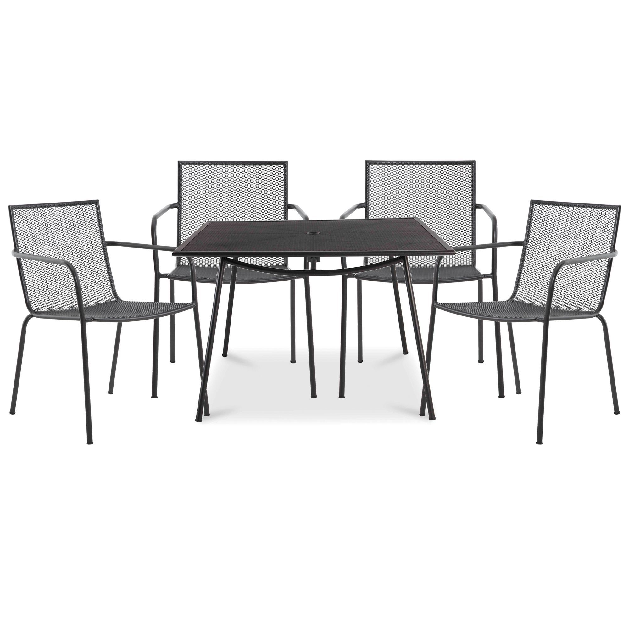 Kitchen Stools Adelaide: Adelaide Metal 4 Seater Armchair Set