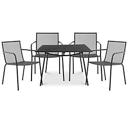 Adelaide Metal 4 Seater Armchair Set