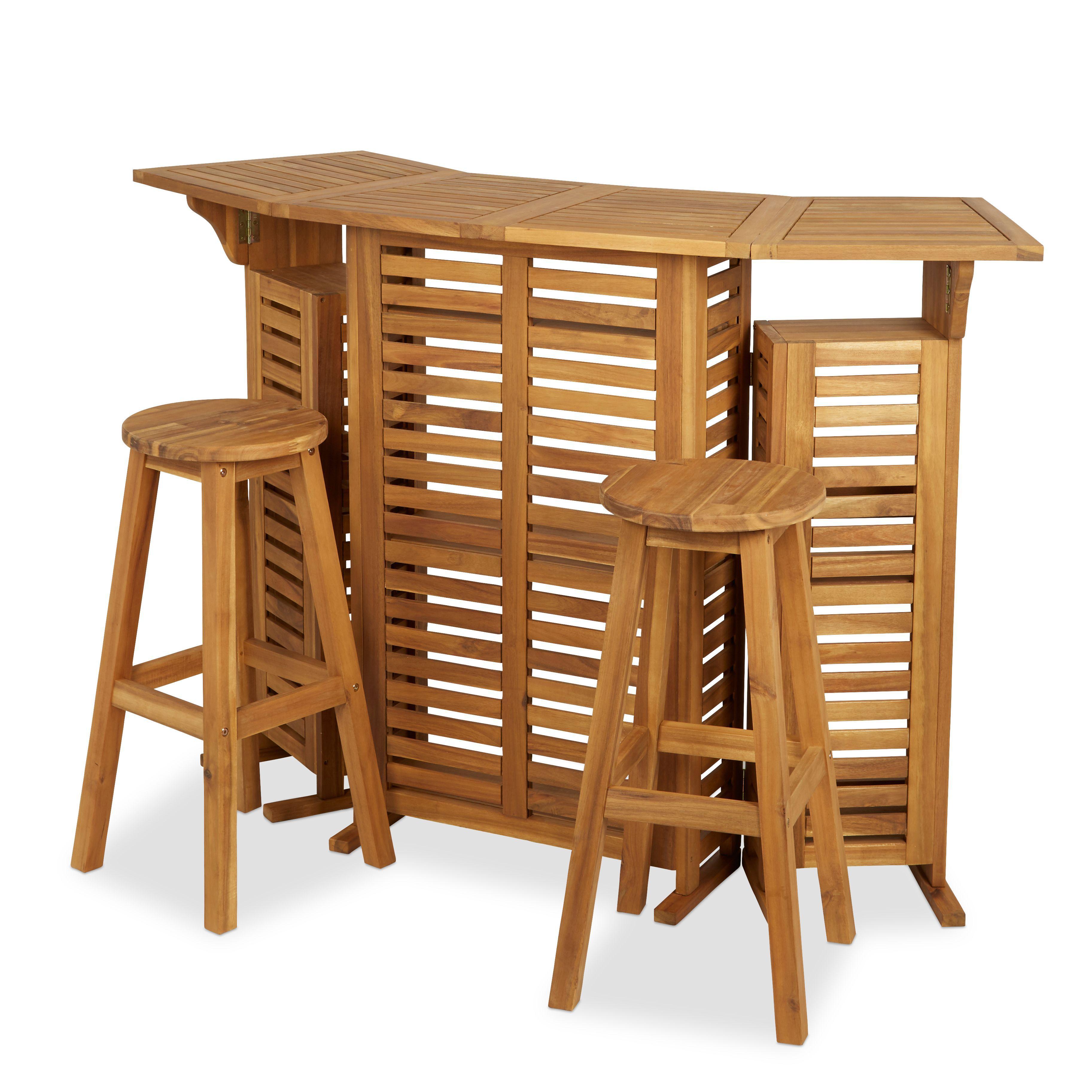 Porak Wooden 2 seater Bar | Departments | DIY at B&Q