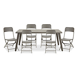 Cantua Metal 8 seater Dining set
