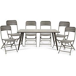 Katalla Metal 6 seater Dining set